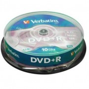 VERBATIM - DVD+R 4,7 Go 16x Matt Silver - Spindle de 10 (data) ( 43498 )