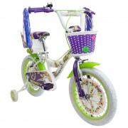 Benotto bicicleta infantil benotto flower power r16 1v blanca con morado