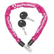 #DoYourOutdoor - Fietsslot - »Guardian« - Kettingslot - L 60 cm, Ø ca. 20 cm, dikte ca. 3/4 mm - roze
