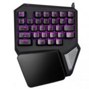 Клавиатура Delux T9 Pro, гейминг, подсветка, USB, черна