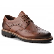 Обувки CLARKS - Batcombe Wing 261271917 Dark Tan Leather