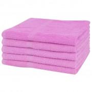 vidaXL Osušky sada 5 ks bavlna 360 g/m² 70x140 cm ružové