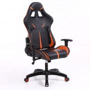 Scaun gamer sintact negru portocaliul- A Sosit! Ultimul design, suprafață chiar mai confortabilă!