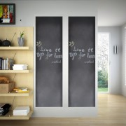 vidaXL Wall Sticker Blackboard 0.6 x 2 m 2 Rolls with Chalks