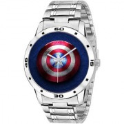 New Mr. America Round Dial Stainless Steel Watch- For Men