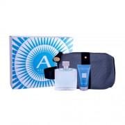 Azzaro Chrome set cadou apa de toaleta 100 ml + gel de dus 50 ml +geanta cosmetica pentru bărbați