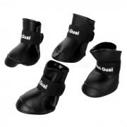 Zapatos antideslizantes de lluvia para perros de perro - Negro (tamano L / 4 PCS)