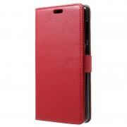 Bolsa Tipo Carteira Texturizada para Asus Zenfone 4 Max ZC520KL - Vermelho