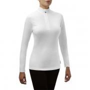 Rewoolution Women Jolly Half Zip Long Sleeve white