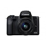 Canon Cámara Mirrorless CANON M50+EF-M 15-45MM IS (Negro - 24.1 MP - Sensor: APS-C - ISO: 100 a 6400)