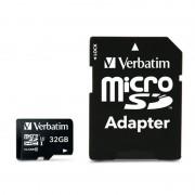 Card de memorie Verbatim Pro microSDHC 32GB Clasa 10 UHS-I U3 cu adaptor SD