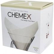 Chemex fyrkantiga filterpapper för 6. 8 och 10 koppars kanna. 100 st.