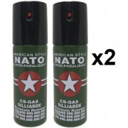 2 spray NATO paralizant de buzunar cu piper pentru autoaparare