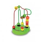 Bead Maze-Green Frog-Jeu D'eveil -Jouet A Fil Grenouille En Bois Vert -1er Age- Vilac-France-9943g