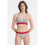 Calvin Klein Modern Cotton Bralette Lift - grey heather/ red manic Velikost: S