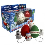 Christmas Ornament Grow Egg Hatchems - Hang Em and Hatch Em X-Mas Hatching Eggs - Grow Three Differe
