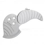 Al aire libre multi-funcional forma de manzana plegable cuchillo de bolsillo - plata