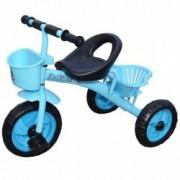 Tricicleta cu pedale pentru copii scaun ergonomic doua cosuri de depozitare - Albastru Nebunici