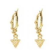 My Jewellery-Oorbellen-Triangle Earring Dots-Goud