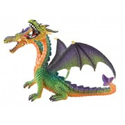 Bullyland Dragon with Two Heads in Green Action Figure