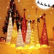 Karácsonyi világító piramis fa – Kék, 180 cm