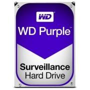 HDD Western Digital Purple, 2TB, SATA III 600, 64MB Buffer - dedicat sistemelor de supraveghere + Cablu S-ATA III 4World 08529, 457 mm