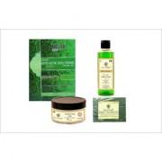 khadi herbs anti acne facial kit neem tulsi face wash under eye gel neem tulsi soap(pack of 4)