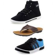 Tempo Mens Stylish Casual Shoes Combo ( Br-Bxr-Odi)