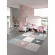 Covor MERINOS Pastel Kids 20339 255-Pink 140x200 cm grosime 13 mm