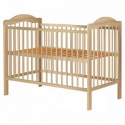 Patut copii din lemn Lizett 120x60 natur+saltea de 8 cm