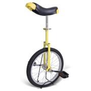 "Astonishing Yellow 18 Inch In 18"" Mountain Bike Wheel Frame Unicycle Cycling Bike With Comfortable Release Saddle Seat"