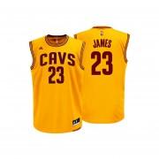 Jersey Playera Adidas De Los Cavaliers De Cleveland De Lebron James-Amarillo