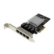 STARTECH.COM Startech Scheda di rete PCIe Gigabit Power over Ethernet a 4 porte - Adattatore PCI express - Intel I350 NIC