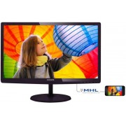"Monitor IPS LED Philips 23.6"" 247E6QDAD, Full HD (1920 x 1080), DVI-D, MHL-HDMI, 5ms GTG, Boxe (Negru)"