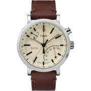 Timex Metropolitan + orologio sportivo Beige, Marrone, Acciaio spazzolato Bluetooth