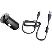 Sony Ericsson AN401 Car Charger - зарядно за кола и USB кабел за Sony, Sony Ericsson и мобилни устройства с microUSB