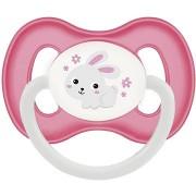 Canpol babies Latex cumi 6-18 hónapos korig, rózsaszín