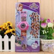 Fashion Kids 24 projection sofia cartoon watch children wristwatches clock girl boy gift G78933