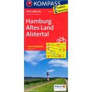 Fietskaart 3007 Hamburg - Altes Land - Alstertal | Kompass