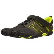 Vibram V-Train Cross-Trainer Zapato para hombre, Negro/Verde, 11-11.5