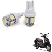 Auto Addict Scooty T10 5 SMD Headlight LED Bulb for Headlights Parking Light Number Plate Light Indicator Light For Suzuki Swish 125