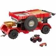 Hot Wheels Monster Trucks 2-in-1 Crashrennen-Truck inkl. 1 Monster Truck Spielzeugauto
