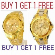 Golden NEW Stylish Rosra gold-silver watches combo