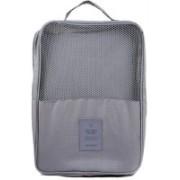 Swarish 2 Layer Waterproof Travelling Shoe Footwear Storage Bag Organiser Pouch Travel Toiletry Kit (Grey)(Grey)