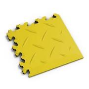 Žlutý vinylový plastový rohový nájezd 2016 (diamant), Fortelock - délka 14 cm, šířka 14 cm a výška 0,7 cm
