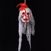 Halloween Decorations Horror Props Horrible Skeleton Bleeding Skull Scary Spooky Hanging Props Party Decor Supplies