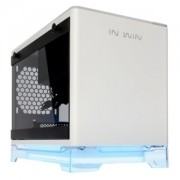 Carcasa In Win A1 Tempered Glass Mini-ITX White, RGB, sursa 600W, IW-A1-WHI-P