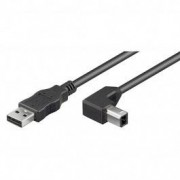 Goobay USB 2.0 Aansluitkabel USB A - USB B Haaks 0,5m