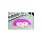 Tapete Antiderrapante Formato Menina Laco Pink 0,76 X 0,64 Guga Tapetes