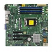 Дънна платка за сървър SuperMicro X11SSL-F, LGA 1151, поддържа ECC UDIMM/DDR4 SDRAM, 2x Lan1000, 6x SATA3 RAID (0,1,5,10), USB3.0, micro ATX, Bulk Pack